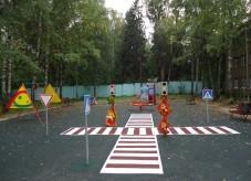 Наливное резиновое покрытие для уличных площадок 13