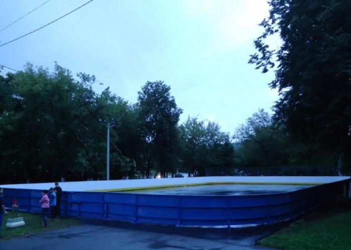 Установка хоккейного борта